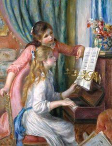 Ragazze al pianoforte - Renoir