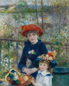 Sulla terrazza (due sorelle) di Renoir